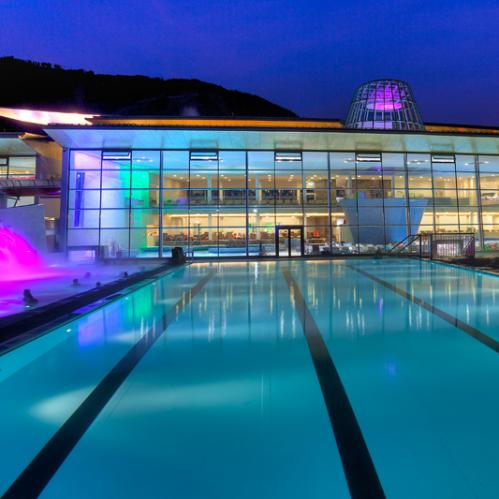 sport pool at night