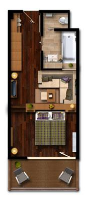 layout double room panorama