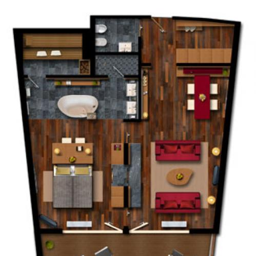 layout tauern spa suite