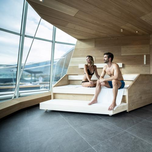 Glacier view sauna in the Hotel SPA Gletscherblick