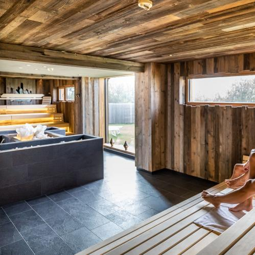 Infusion & adventure sauna Bergkristall in the outdoor area of the SPA sauna world | © TAUERN SPA Zell am See - Kaprun