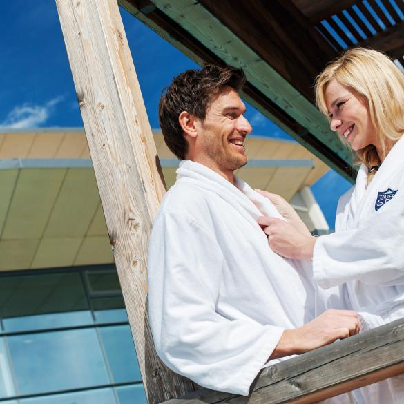 hotel tauern spa balcony couple