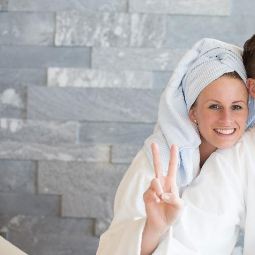 couple in bath robes tauern spa