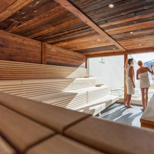 'Alpenglühen' sauna in the SPA sauna world | © TAUERN SPA Zell am See - Kaprun