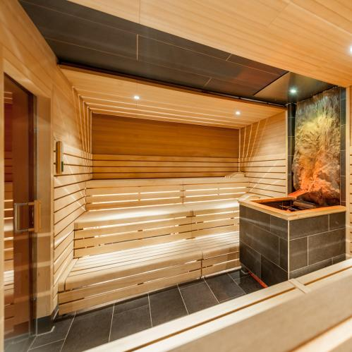 sauna interior view
