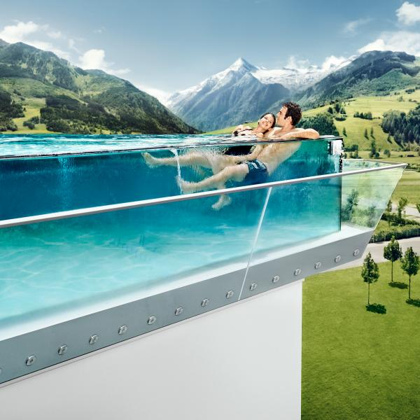 infinity outdoor pool tauern spa